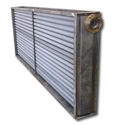 涂装生产线专用双金属铝轧空气散热器